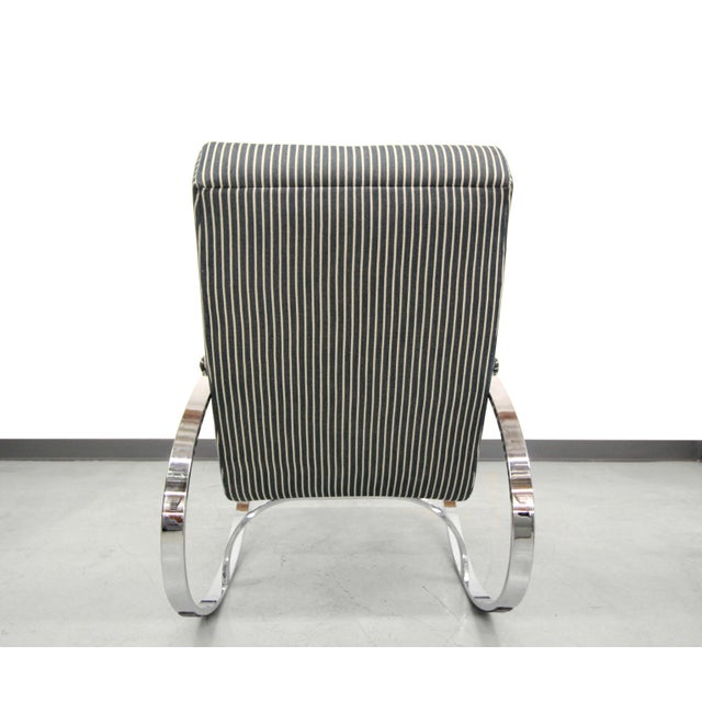 Mid-Century Chrome Rocking Chair by Milo Baughman For Sale In Las Vegas - Image 6 of 7