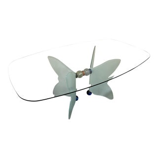 Butterfly Dining Table Glass Top & Glass Base
