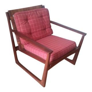Vintage Hans Olsen by Selig Teak Lounge Chair For Sale