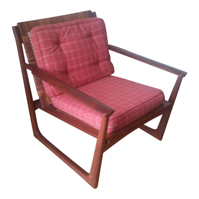 Vintage Hans Olsen by Selig Teak Lounge Chair | Chairish