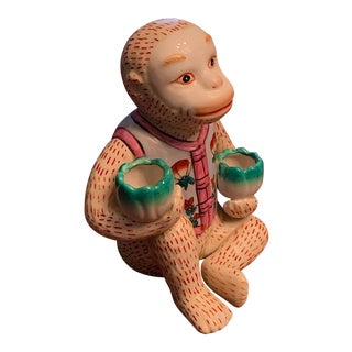 Chinoiserie Ceramic Monkey For Sale