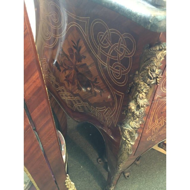 French Louis XV Style Marble Commode For Sale - Image 10 of 12