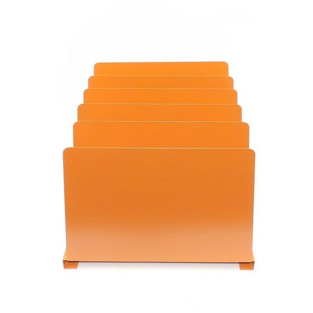 Orange Wooden Desk Organizer - Vinyl Record Rack - Image 2 of 10