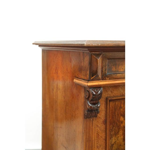 Biedermeier Style Walnut Cabinet, Germany, 1890 For Sale - Image 11 of 13