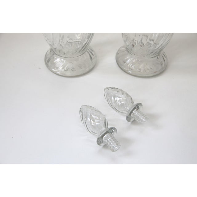 Vintage Wine Spirit Liquor Glass Decanters - A Pair - Image 3 of 4