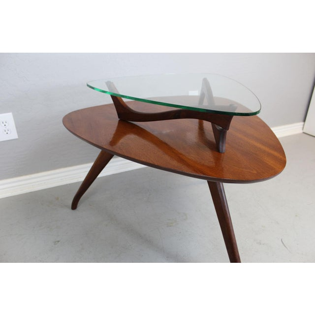 Vladimir Kagan-Style Two-Tier Side Table For Sale - Image 7 of 9