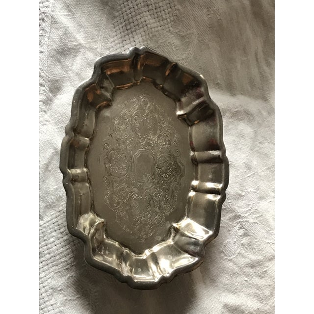 Vintage Silver Plated Footed Candy/Soap Dish For Sale - Image 10 of 10