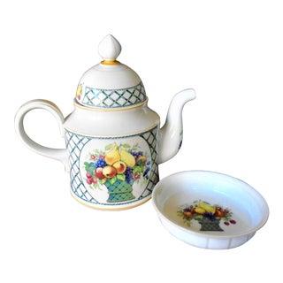 Villeroy & Boch Teapot & Teabag Plate For Sale