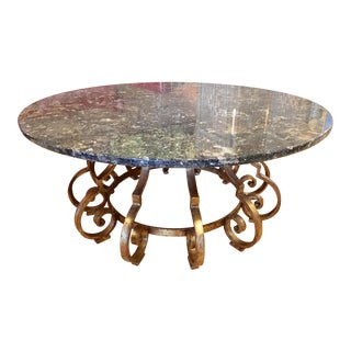 Italian Marble Top Neoclassical Cocktail Table