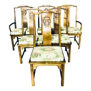 Vintage Century Furniture Chin Hua Dining Chairs - Set of 6 For Sale