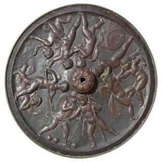 19th Century Vintage Repousse Bacchanal Ceiling Medallion For Sale