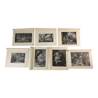 1892 Antique Prints of Scenes From Shakespeare's Tragedies - Set of 7 For Sale