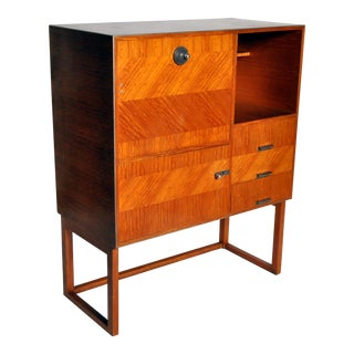 Modern Petite Fall-Front Cabinet For Sale