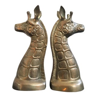 Brass Giraffe Bookends For Sale