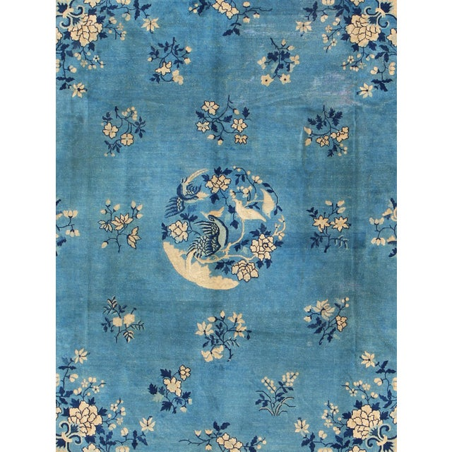 Keivan Woven Arts, L11-0807, Early 20th Century Antique Chinese Peking Rug - 9′10″ × 11′8″ For Sale - Image 4 of 9