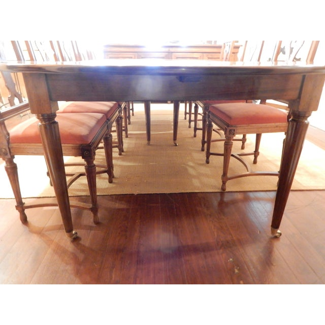 French Walnut Extension Dining Table For Sale - Image 9 of 12