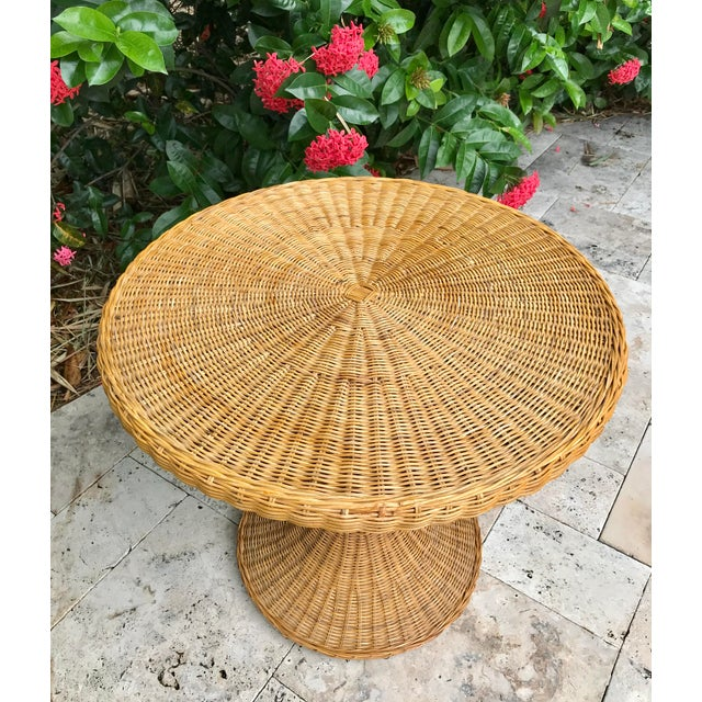 Vintage Wicker Rattan Dining Table For Sale In Naples, FL - Image 6 of 13