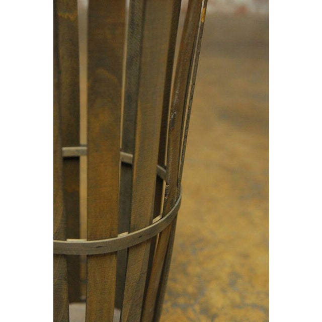 Tall Wooden Cellar Baskets-Set of 3 For Sale - Image 10 of 11