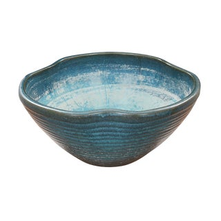 Handmade Blue Ceramic Bowl For Sale