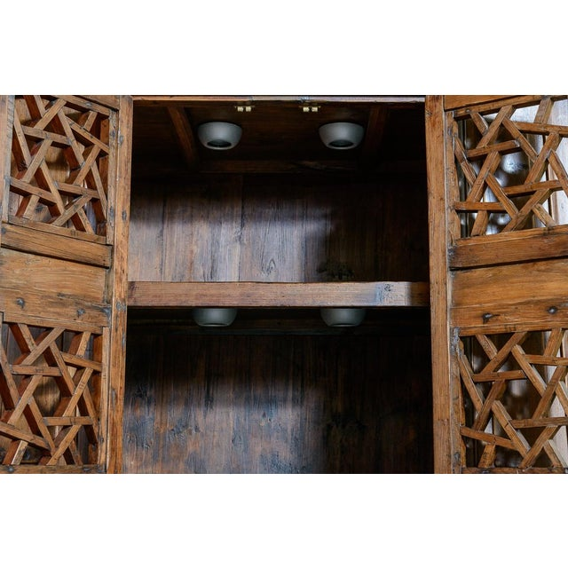 Chinese Elm Wood Cabinet For Sale - Image 4 of 7