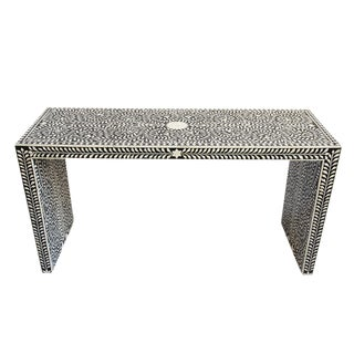 Bone Inlay Console Table For Sale