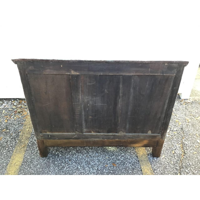 Paint Antique French Provincial Painted Chest For Sale - Image 7 of 11