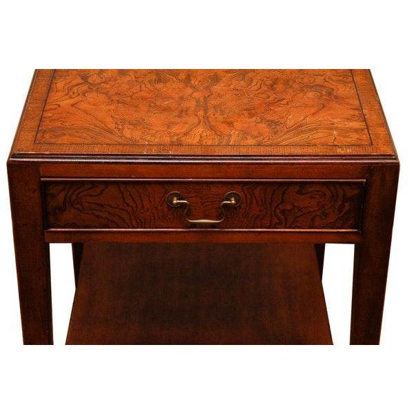 Mid-Century Modern Mid-Century Modern Burlwood Side Table For Sale - Image 3 of 6