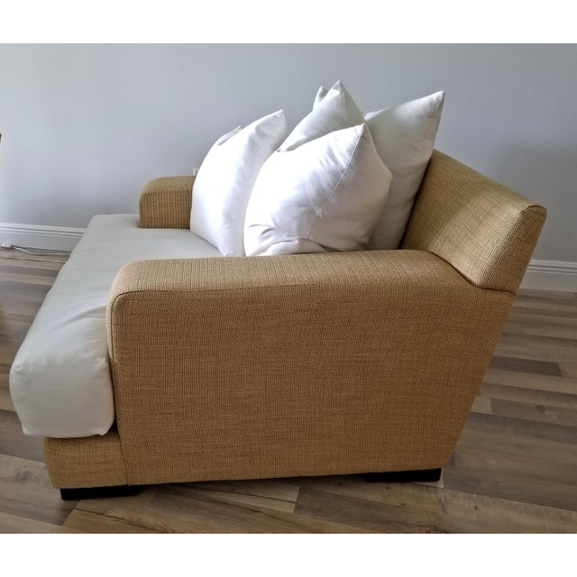 Resort Style Modern Oversized White & Sand Sofa and Chair - Set of 2 For Sale - Image 11 of 13