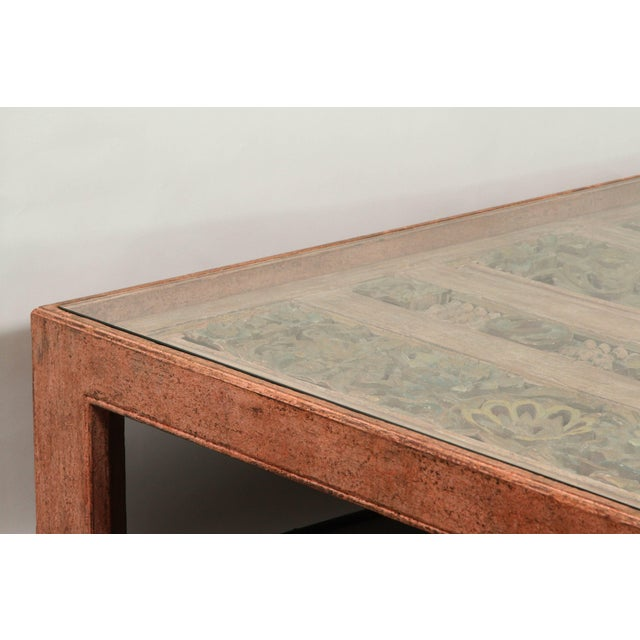 Moroccan Handcrafted Large Square Coffee Table For Sale In Los Angeles - Image 6 of 10