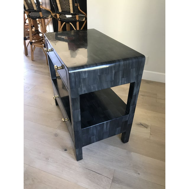 Yaren Double Faux Horn Nightstands-A Pair For Sale - Image 9 of 13