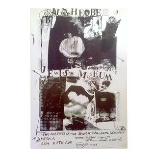 Robert Rauschenberg Rare Vintage 1963 Lmtd Edtn Collector's Lithograph Print Jewish Museum Poster For Sale