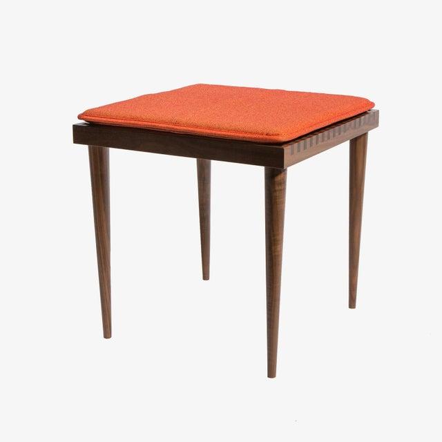 Mel Smilow Smilow Furniture Walnut Slat Wood Side Tables/Stools For Sale - Image 4 of 6