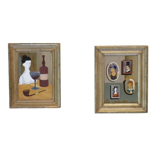 Pietra Dura Portraits - a Pair For Sale
