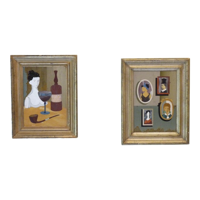 Pietra Dura Portraits - a Pair For Sale