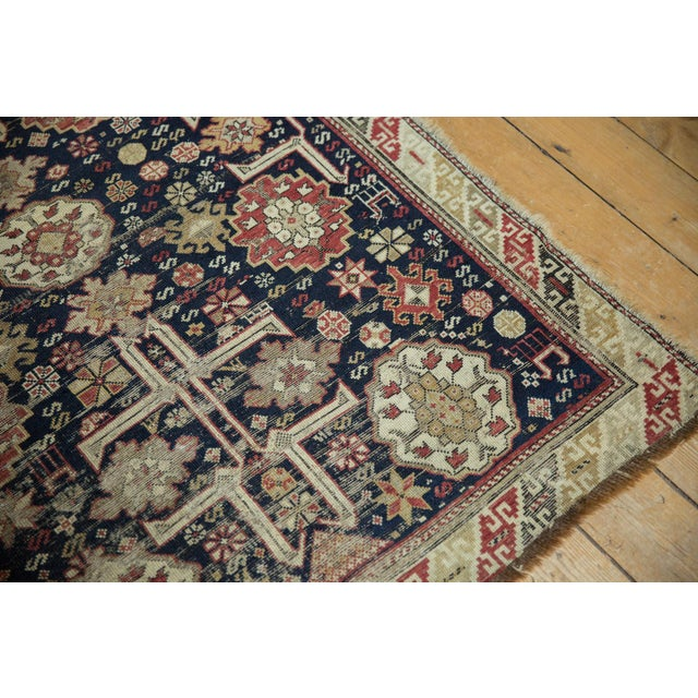 "Old New House Antique Caucasian Rug - 3'9"" X 5'1"" For Sale - Image 4 of 13"