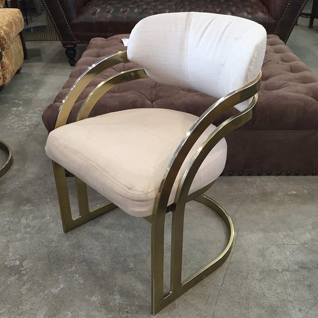 Milo Baughman-Style Vintage Armchairs - Set of 3 - Image 4 of 11