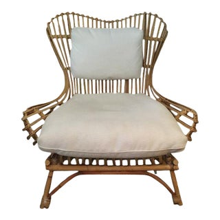 Berber Kammlah Doheny Rattan Chair For Sale