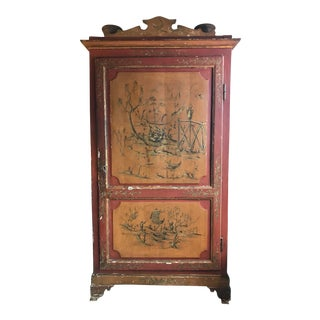 19th C. English Chinoiserie Armoire For Sale
