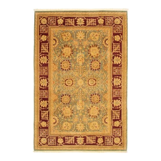 Hand-Knotted Wool Rug For Sale