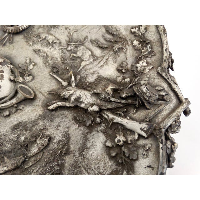 Silver Hunting Trophy Desk Tray - Image 4 of 5