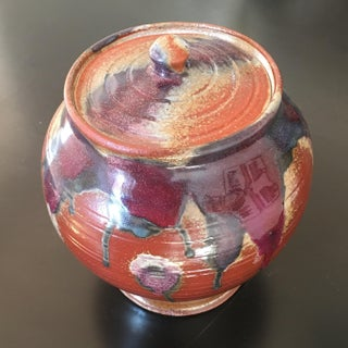 Mid-Century Ceramic Vessel With Lid, Signed by Artist Preview