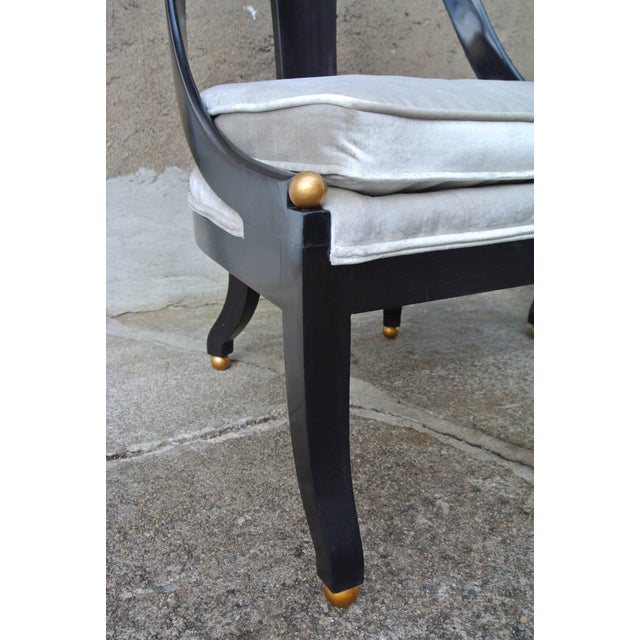 Mid 20th Century Pr. Neoclassic Chairs by Michael Taylor for Baker For Sale - Image 5 of 10