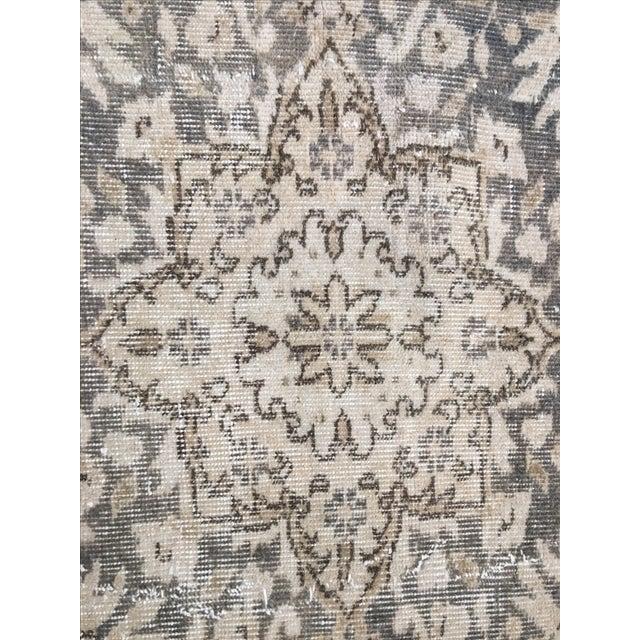 """Vintage Turkish Oushak Rug - 6'11"""" x 10'1"""" - Image 6 of 8"""