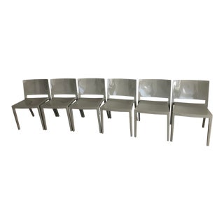 Gray Kartell Chairs - Set of 6 For Sale