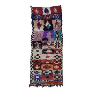 1970s Vintage Boucherouite Wool Rug For Sale