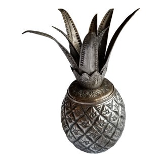 Silver Pineapple Form Box For Sale