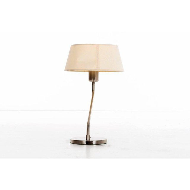 Walter Von Nessen Vintage 1960s Walter Von Nessen Table Lamp With Shade For Sale - Image 4 of 9