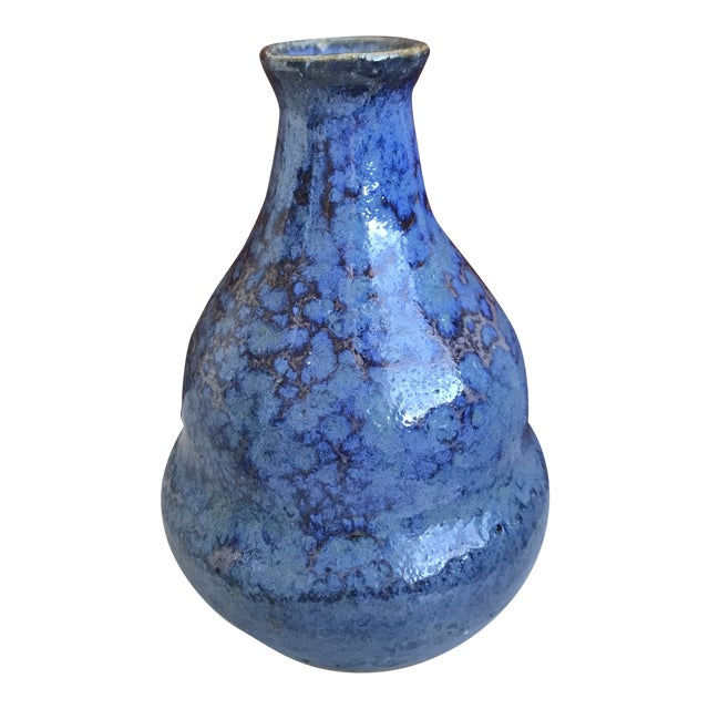 Cobalt Blue Bud Vase Studio Pottery For Sale