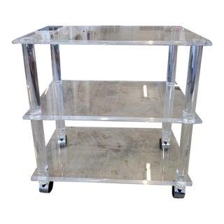 1960s Acrylic Bar Cart For Sale