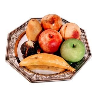 Vintage Stone Fruit Marble Italian Set For Sale